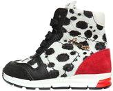 Simonetta Dalmatian Printed Ponyskin Sneakers