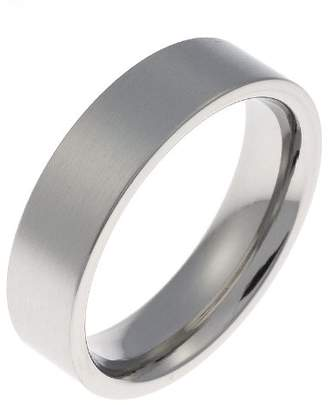 Schumann Design Engagement/Wedding Ring, Stainless Steel, 6Mm Band Width - Size K