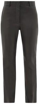 Joseph Coleman Leather Slim-leg Trousers - Womens - Black