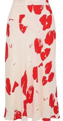 Iris & Ink Scarlett Printed Crepe Midi Skirt