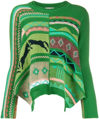 High By Claire Campbell Long Sleeve Patterned Jumper