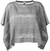 M Missoni cape style top - women - Cotton/Polyamide/Metallic Fibre - One Size