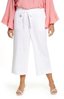 Single Thread Paperbag Waist Linen & Rayon Blend Pants