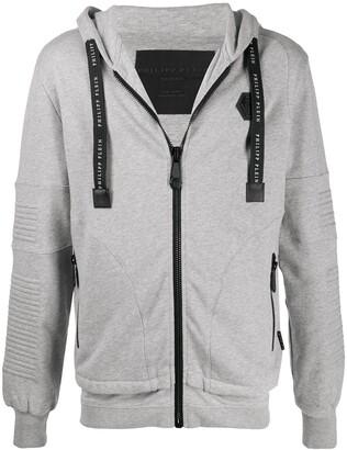 Philipp Plein Institutional zipped hoodie