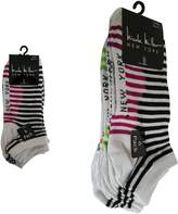 Nicole Miller 6 Pack Striped Low Cuts Women Ladies Socks Size