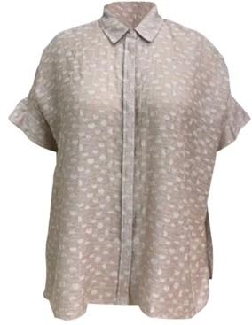 Alfani Plus Size Textured Pleated-Back Tunic, Created for Macy's