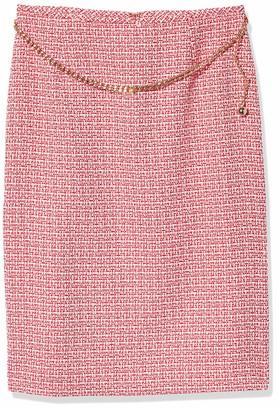 Tahari ASL Women's Petite Chain Belt Pencil Skirt