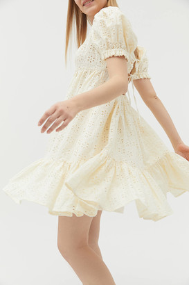 Urban Outfitters Whisper Eyelet Babydoll Mini Dress