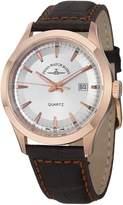 Zeno Silver Dial Brown Leather Strap Men's Watch