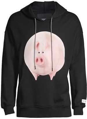 Mostly Heard Rarely Seen Pig Graphic Hoodie