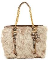 Longchamp More Is More Genuine Lamb Fur & Leather Shoulder Bag