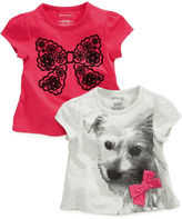 First Impressions Baby Shirt, Baby Girls Short-Sleeved Top