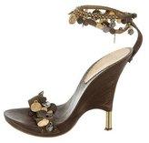 Roberto Cavalli Embellished Platform Sandals