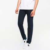 Paul Smith Men's Slim-Standard 11.8oz Dark Over-Dyed 'Super Soft Cross-Hatch' Stretch-Denim Jeans