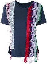 Versace asymmetric panel T-shirt - women - Polyethylene/Spandex/Elastane/Viscose - 42