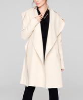 Tan Hooded Wool-Blend Coat