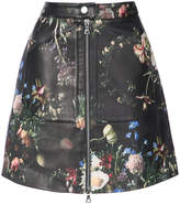 ADAM by Adam Lippes floral print zip detail skirt