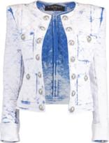 Balmain Quilted Acid Wash Jacket