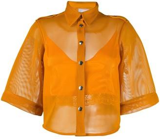Thebe Magugu 3/4 Sleeve Mesh Shirt
