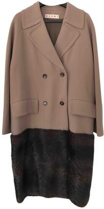 Marni Beige Wool Coat for Women