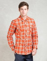 Billionaire Boys Club Orange L/S Billionaire Layer Heavy Flannel Shirt