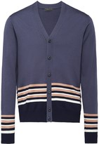 Prada Striped wool cardigan