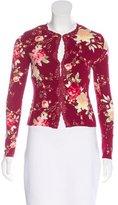 Blumarine Floral Print Knit Cardigan