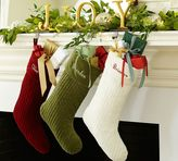 Pottery Barn Channel Quilted Velvet Stocking