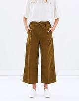 Maison Scotch Cropped Wide Leg Paper-Bag Pants