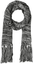 Miss Shop Knitted Black Mix Long Tassel Scarf