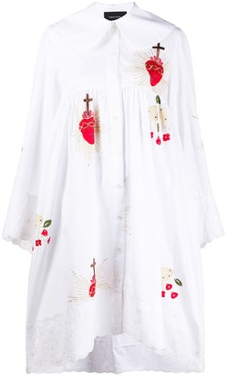 Simone Rocha Sacred Heart-Embroidered Dress