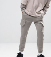 Puma Skinny Cargo Joggers in Gray Exclusive to ASOS