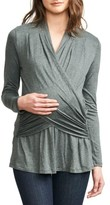 Maternal America Women's Drape Maternity/nursing Top