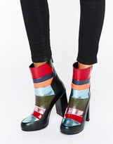 House of Holland Patchwork Heeled Ankle Boots