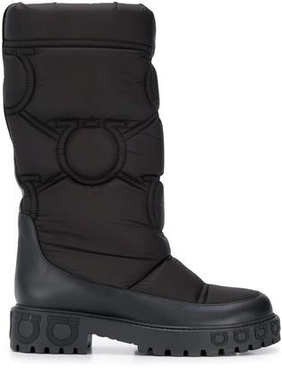 Salvatore Ferragamo Gancini sole padded boots