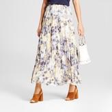 Zac & Rachel Women's Printed Crinkled Woven Maxi Skirt