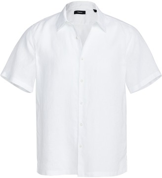 Theory Irving Short Sleeve Linen Shirt