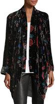Johnny Was Vella Floral-Print Velvet Kimono, Plus Size