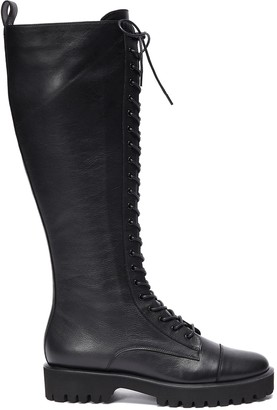 Pedder Red 'Dakota' lace up leather combat boots