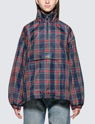 Sjyp Check Pattern Half Zip Up