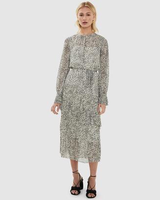 Cooper St Serena Asymmetric Pleated Midi Dress