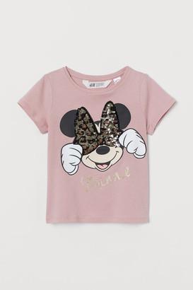 H&M Reversible sequin T-shirt