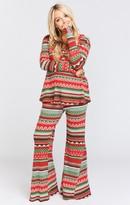 MUMU Fiesta Flare Pants ~ Gingerbread Stripe Thermal