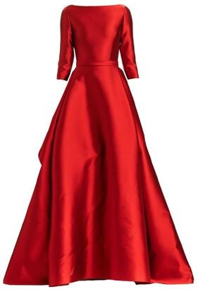 Carolina Herrera Boatneck Silk & Wool Ball Gown