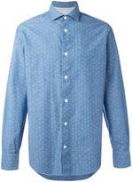 Eleventy polka dots print shirt