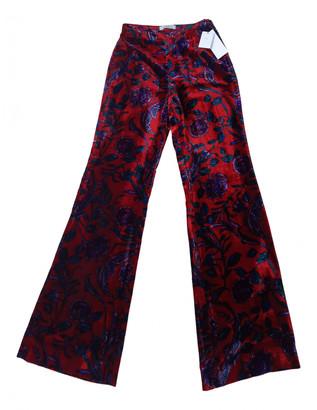 Sandro Red Velvet Trousers