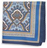 Eton Men's Damask Silk Pocket Square