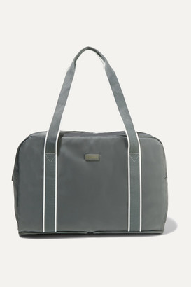 Paravel Fold-up Leather And Grosgrain-trimmed Shell Weekend Bag - Anthracite