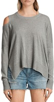 AllSaints Cecily Cold-Shoulder Sweater