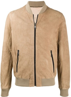 Family First Suede Bomber Jacket